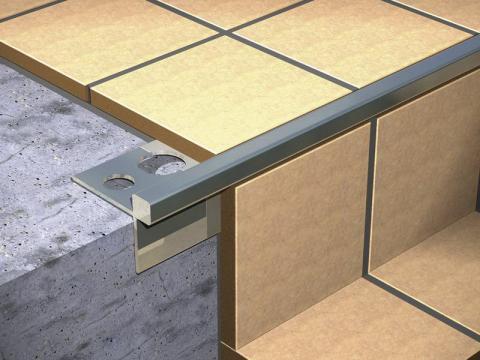 Aluminijumska lajsna za mozaik debljine 5mm