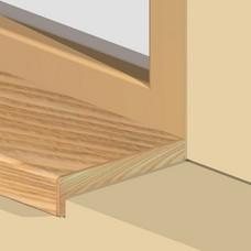 Desni zavrsetak za PVC podprozorsku dasku