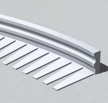 Ravna fleksibilna lajsna od aluminijuma