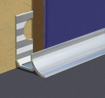 Konkavna lajsna od aluminijuma za pločice debljine 9mm