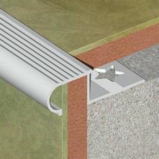 Polukružna lajsna za zaštitu ivce stepništa od aluminijuma za pločice debljine 10mm