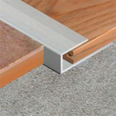 Početno-završna pravougaona lajsna za laminat od aluminijuma širine 10mm
