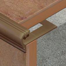 Polukružna lajsna za zaštitu ivice stepeništa od aluminijuma za pločice debljine 11mm