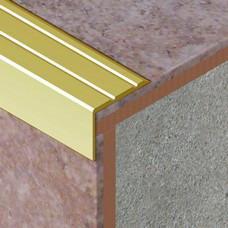 Perforirani L profil za zaštitu ivice stepništa od aluminijuma dimenzija 25x20mm