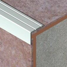 Nadgradni L profil za zaštitu ivice stepeništa - aluminijum