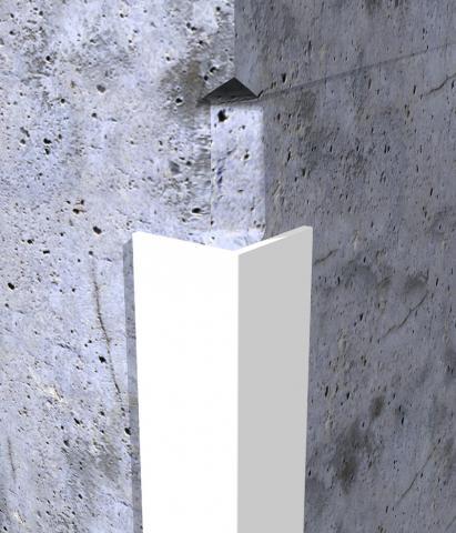 Profil za zaštitu ivice zida dimenzije 25 x 25mm