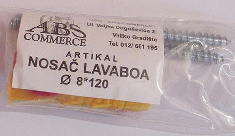 Nosac lavaboa 8*120